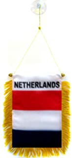 ALBATROS (Pack of 12) Netherlands Holland Mini Flag 4 inch x 6 inch Window Banner Suction Cup for Home and Parades, Official Party, All Weather Indoors Outdoors