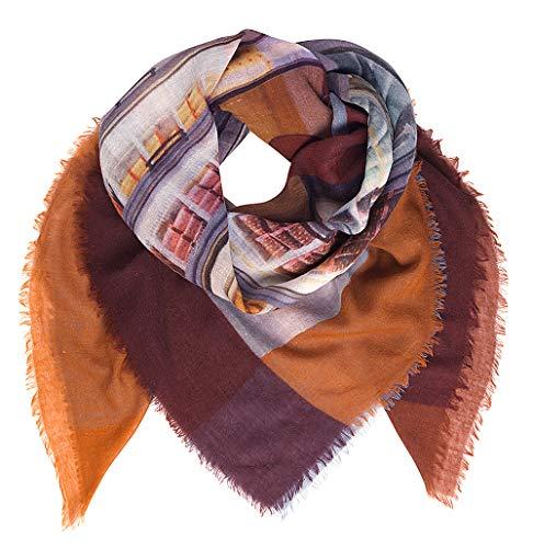 Becksöndergaard Tuch Damen Winter Ellimo Multi Color Warmes Halstuch Foto Print New York Icecream Wolle 130 x 130 cm - 1907664001-018