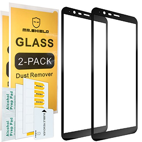 [2-Pack]-Mr.Shield for OnePlus 5T (Not Fit for OnePlus 5) [Japan Tempered Glass] [9H Hardness] [Full Cover] Screen Protector with Lifetime Replacement