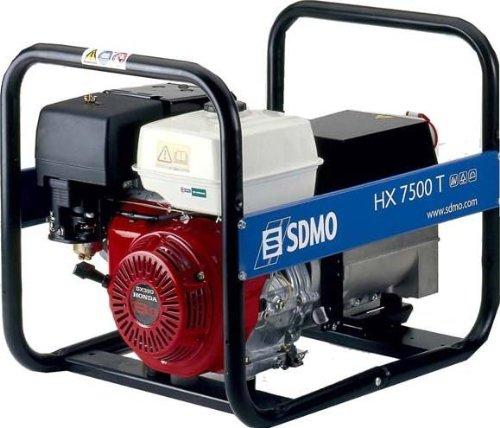 GENERADOR ELECTRICO | SDMO | INTENS HX 7500 T C | CON MOTOR HONDA 230/400 | CON TOMA DE 50 Hz | 1 TOMA 230V 10/16A - DISYUNTOR + 1 TOMA 400V 16A – DISYUNTOR | TRIFASICO