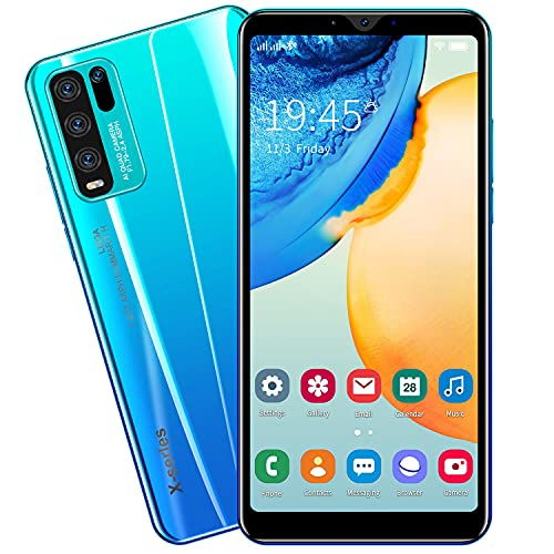 SIM-Free & Unlocked Mobile Phones, Android GO 3G Beatiful Smartphone with 5.5 Inch IPS Display, 2800mAh Big Battery,Dual SIM Dual Cameras and Durable Cell phones (Y50-Blue)