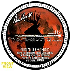 Deer Hunting Moon Guide - Use the best selling lunar calendar for hunting deer! The Moon Guide tells you the best days, times and locations to encounter a mature buck on his feet during daylight hours. Maximize Your Hunt - The Moon Guide is unlike an...