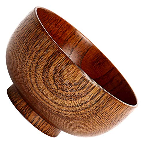 PRETYZOOM Holz-Salatschüssel aus Holz, Essensschüssel, Babyschale, Servierschüssel für Salate, Suppen, Müsli, Obst, Reis, Gewürze, Dip, Sauce
