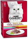 purina gourmet mon petit duetti carne e pesce | 8x 6x 50g gatto fodera