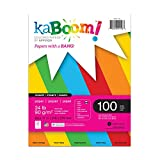 Kaboom Volt Neon Assorted Colored Paper, 8.5' x 11', Single Pack, Primary Colors