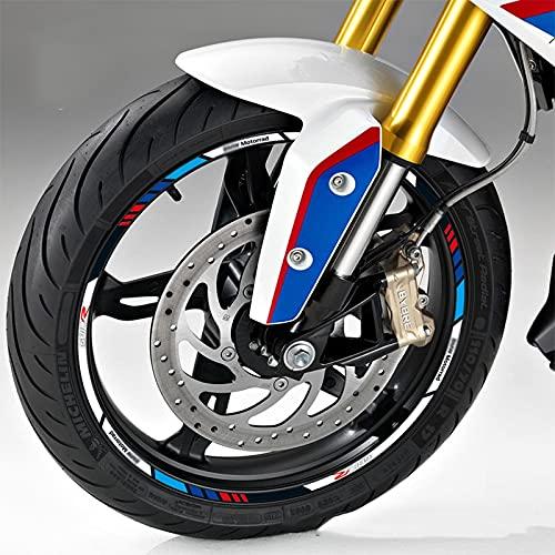 Etiquetas engomadas decorativas de la motocicleta Calcomanía De Llanta Reflectante A Prueba De Agua Modificada Para Motocicleta Para B-MW G310R G310R G310 (Color : 4)