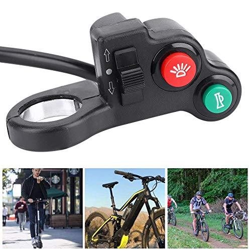 DK-04 Botón de Encendido/Apagado del Manillar de la Bicicleta eléctrica, luz de la Cabeza Botón de Interruptor de la bocina para Bicicleta eléctrica de la Motocicleta