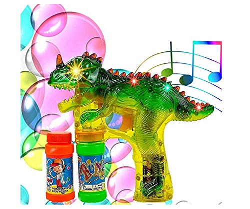 Refasy Bubbles for Toddlers,Bubble Gun Bubbles Blower Dinosaur Toys for 3 Year Olds Light Up Blower Bubble Toys Bubble Maker Machine for Toddlers with Sound Best Birthday Gifts for Boys Girls