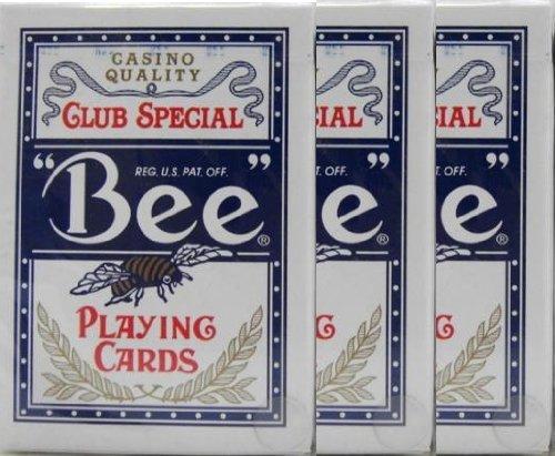 BEE(ビー) 92 ダイヤモンドバック トランプ ポーカーサイズ 青 3デックシュリンクパック
