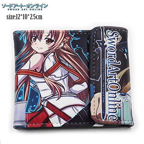Gimax Wallets - Kirito Asuna - Sword Art Online 4x5' Bi-fold Wallet New (Sodo ATO Onrain) - (Color: See Chart)