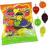 DinDon Fruity Snack TikTok Ju-C Jelly Fruit Candy Bag 11.3 oz 5 Flavors Strawberry, Sour Apple, Pineapple, Grape, and Orange Tasty Fruity Jelly Snack by Din Don