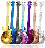 💖Unica Forma Di Chitarra: Set di 7 pezzi di diversi cucchiai di colore diverso, sembra una mini chitarra, tenendola in mano, ti porterà un bellissimo godimento. 💖Cucchiai In Metallo Di Qualità Premium:Realizzati in acciaio inossidabile 18/8 (304) di ...