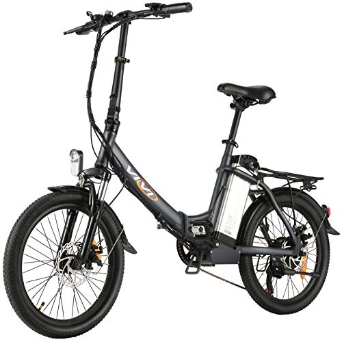 VIVI Z3 Folding Electric Bike Ebike, 20'' Electric Bicycle 20Mph with 36V 8Ah Removable Lithium-Ion Battery, 250W Motor and Shinmano Professional Rear 6 Speed Gears, Gray