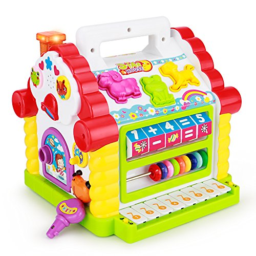 TOYK Kids toys Musical Colorful Baby Fun House, Many Kinds Of Music, - girls boys toddlers and baby toys-,Electronic Geometric Blocks Learning Educational Toys