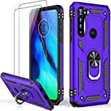 LUMARKE Moto G Stylus Case with Screen Protector,Pass 16ft. Drop Tested Military Grade Cover with Magnetic Ring Kickstand Car Mount Holder,Protective Phone Case for Moto G Stylus Purple