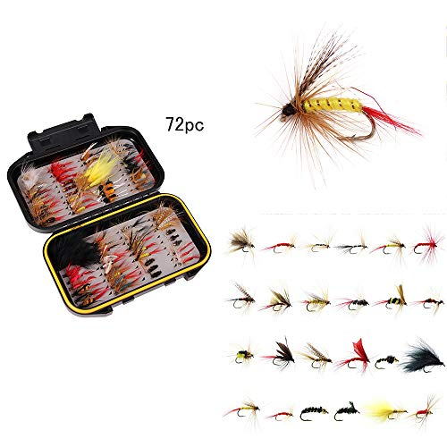ONEVER Fly Fly Fly Fly Fly Fly Fly Box Wet Flies visaas haspel assortiment Fly Box waterdicht forel vissen