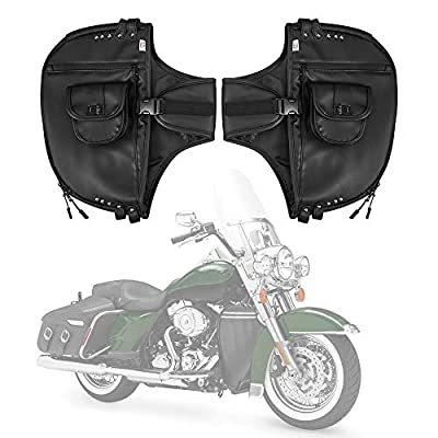 Street Glide Soft Lowers Chaps, Lower Faring for Touring Models Road King Road Glide Electra Glide and Trike Models 1980-2018 2019 2020, Synthetic Leather by kemimoto