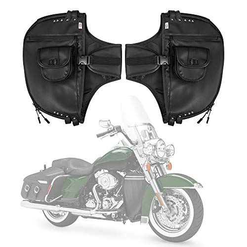 Soft Lowers Chaps, Lower Faring for Street Glide Road King Road Glide Electra Glide and Trike Models 1980-2018 2019 2020 Synthetic Leather