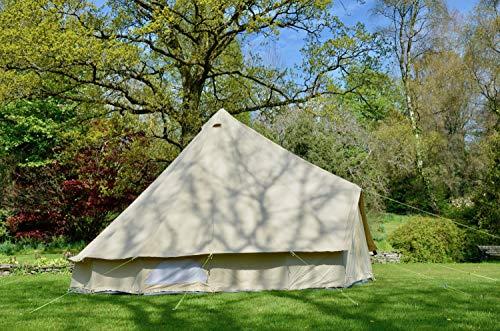6 m feuerfestes Glockenzelt 100 % 320 g/m² Baumwolle Leinwand Familienzelt Camping Zelt Glamping Zelt Event Zelt Festival Zelt