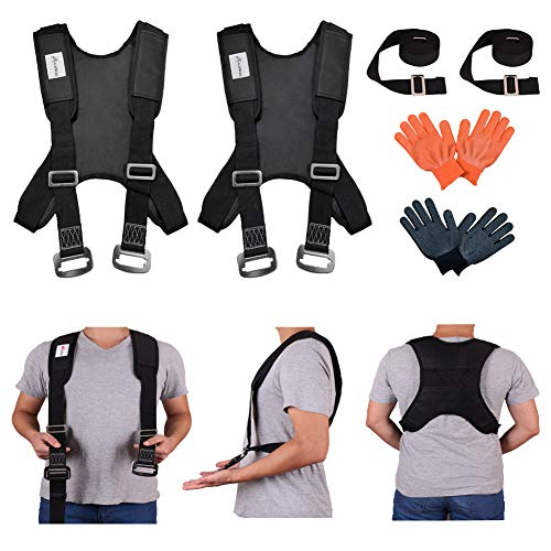 KAINIAIJ Furniture Moving Strap, Shoulder Lifting Straps for Furniture, Mattress, Sofa, Piano, Refrigerator, Appliance Carrying Strap Heavy Weights 2 Person