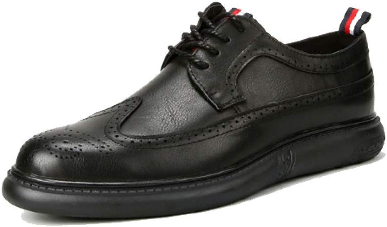 NIUMT British Style, Retro, Brock shoes, Men's Business shoes, Lace-up shoes
