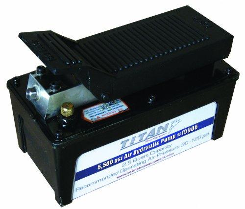 5,500 PSI 2.5 Quart Titan Air Hydraulic Pump with Aluminum Reservoir
