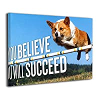 Skydoor J パネル ポスターフレーム ジャンプ犬のモチベーション インテリア アートフレーム 額 モダン 壁掛けポスタ アート 壁アート 壁掛け絵画 装飾画 かべ飾り 30×40