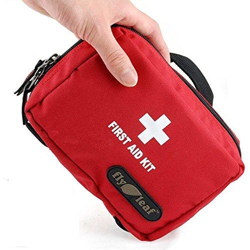 Dewel ファーストエイドバッグ 救急バッグ 医療バッグ 小型 防水 隔てる網2層 手提げ・腰掛け 携帯・収納便利 全開式ファスナー 生活雑貨 旅行/出張/アウトドア/登山/ホーム救急バッグ 中身なし
