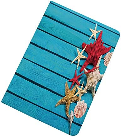 Starfish Decor iPad Air 2 iPad Air Case Different Types of Starfishes Scallops on Blue Painted product image