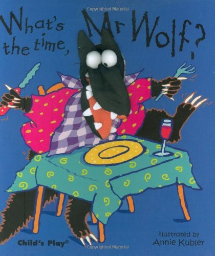 What's the Time, Mr. Wolf? Finger Puppet Books English