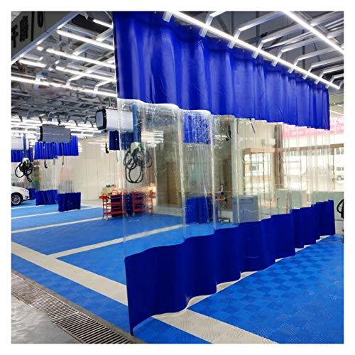 YJFENG Panel Lateral De Tienda De Repuesto, Cortinas Impermeables para Terrazas, Lona Revestida De Azul con Costura De PVC Transparente De 0,5 Mm, para Marquesinas, Cenador