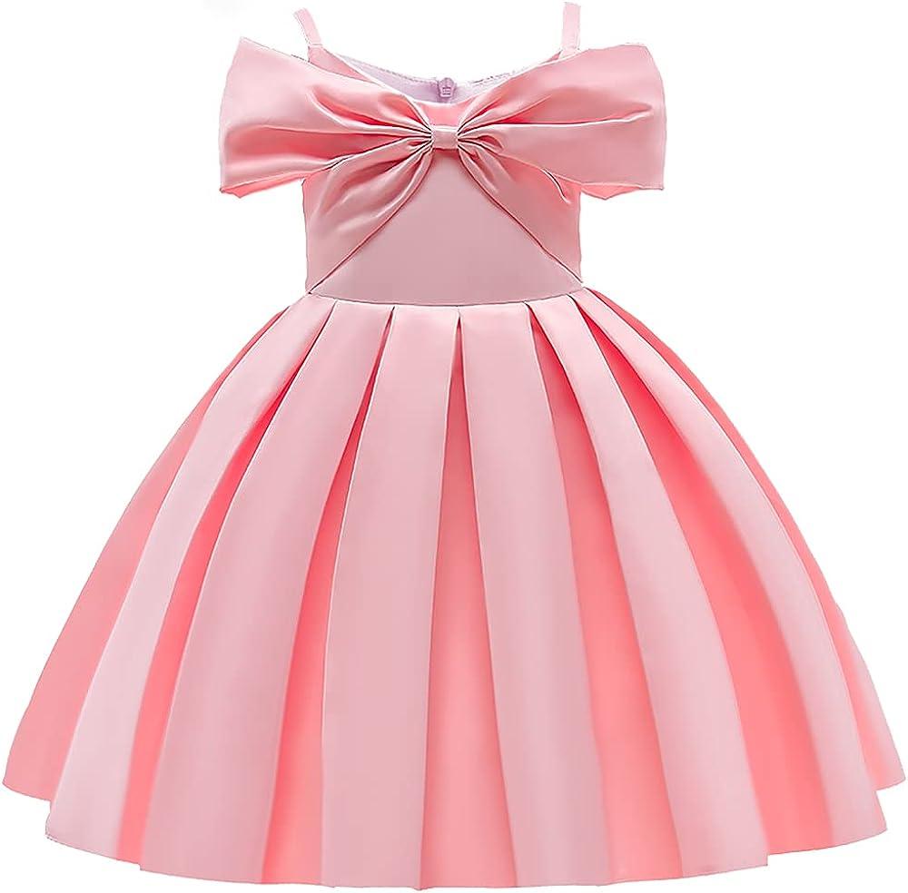 AIMJCHLD 3T-9T Off Shoulder Flower Girls Dress Pageant Party Wedding Formal Dresses