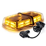 Xprite Amber/Yellow LED Mini Strobe Beacon Light Bar 36 High Intensity Led Plow