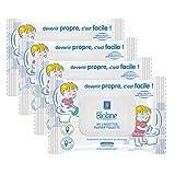 Biolane Toallitas higiénicas para el WC, lote de 4 paquetes