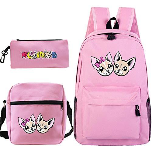 Me Contro Te Rucksack Pencil Case Schultaschen für Jugendliche Jungen und Mädchen Schulterrucksack 3 Stück/Set Kinderreiserucksack 2 Nur Rucksack