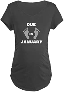 Due in January Maternity Dark Maternity Tee