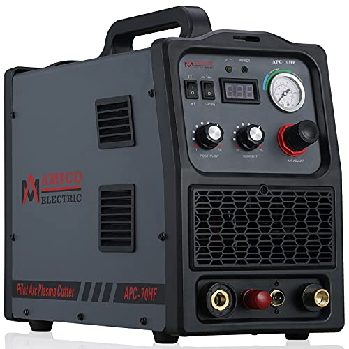 APC-70HF, Professional 70 Amp Non-touch Pilot Arc Plasma Cutter, 1.2 inch Clean Cut, 80% Duty Cycle, 90V to 300V Wide Voltage Cutting Machine