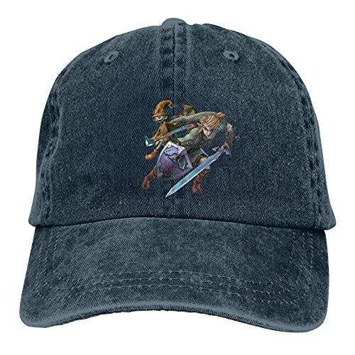 """""""N/A"""" Legend of Zelda Breath of The Wild Sheikah - Gorra de béisbol ajustable, para deportes y ocio, color sólido para hombre y mujer, color azul marino"""