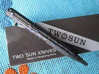 Twosun EDC CNC TC4 Titanium Alloy Tactical Rotating Stonewash Pen TS-PEN02-Fire