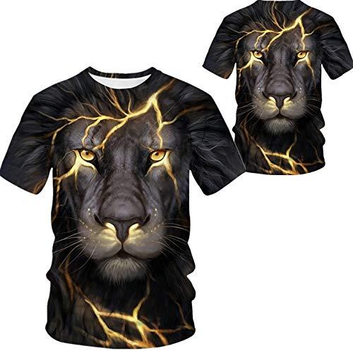 Camiseta para Hombre,Hip Hop Camisetas Impresas En 3D De Gran Tamaño,Camisetas Personalizadas De León Camisetas De Manga Corta Tops Streetwear Casual para Adolescentes De Verano Al Aire Libre,XX,La