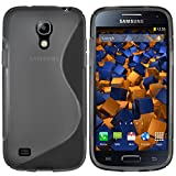 Mumbi - Carcasa para Samsung Galaxy S4 mini (silicona y TPU), color negro transparente