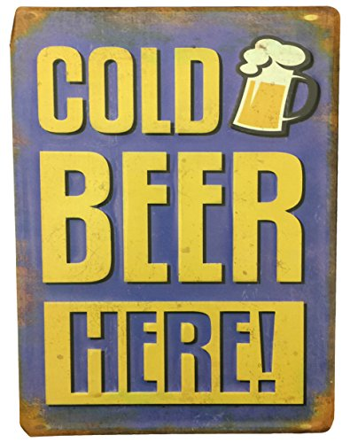 CREATIVE MOTION Metal Plate with Cold Beer Here