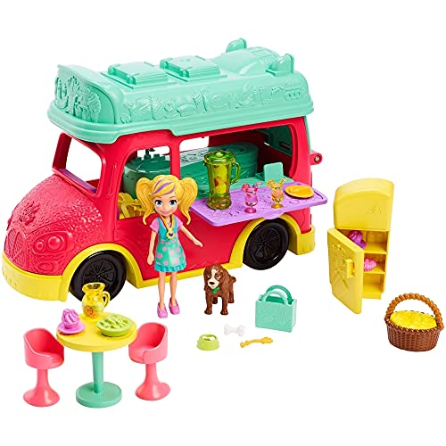 Polly Pocket Swirlin Smoothie Truck Playset