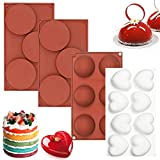 【Package includes】 You will get 2pcs 3-cavity round disc muffin cake molds, 1pcs 6-cavity semicircular mousse molds and 1pcs 8-cavity heart-shaped mousse mold. With one purchase, you will get more quantity and better quality products at a better pric...