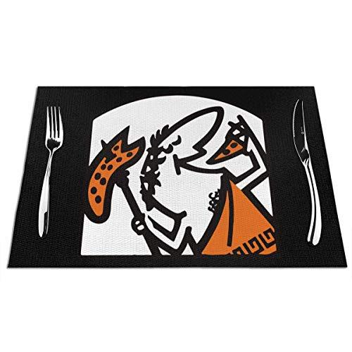 Mesllings Cute Little Caesar - Juego de 4 manteles individuales para mesa de comedor, cocina, 12 x 18 pulgadas