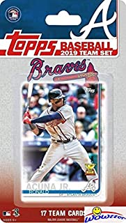 Atlanta Braves 2019 Topps Baseball EXCLUSIVE Special Limited Edition 17 Card Complete Team Set with Ronald Acuna Jr, Ozzie Albies & Many More Stars & Rookies! Shipped in Bubble Mailer! WOWZZER!