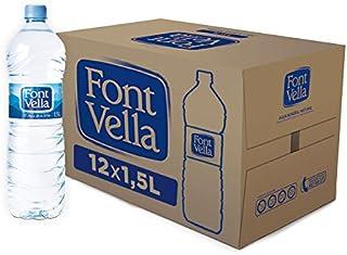Font Vella - Agua Mineral Natural fácil de apilar- Caja 12 x 15 L