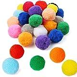 Pllieay 30 Piezas pompones esponjosos de 6 cm, varios pompones para artes y manualidades creativas, 15 colores