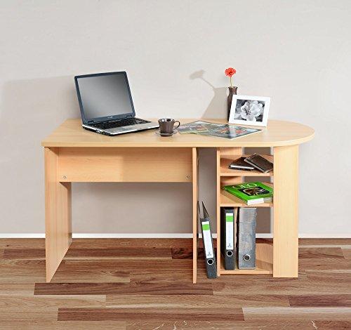 1198 - Schreibtisch RON, mit abgerundeter Tischplatte (buche)
