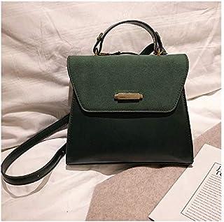 YKDY Shoulder Bag Solid Color Casual PU Leather Shoulder Bag Ladies Handbag Messenger Bag (Black) (Color : Green)
